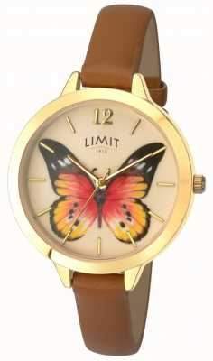 Limit Montre secrète en cuir de papillon de jardin de Womens 6275.73