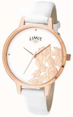 Limit Womens plat éclat blanc cadran floral 6290.73