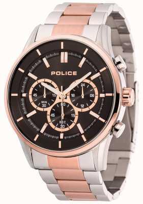 Police Bracelet jonc homme en acier inoxydable et or rose 15001JSTR/02M