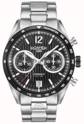 Roamer Montre bracelet chrono homme II en argent 510902415450