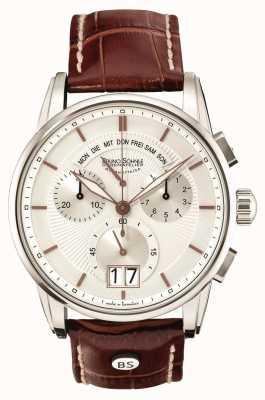 Bruno Sohnle Grandioso 42.5mm chronographe en cuir marron 17-13117-245