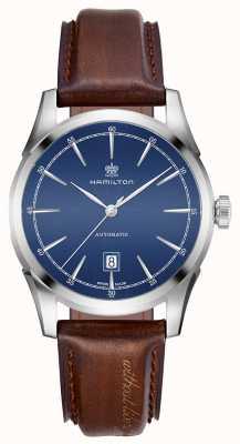 Hamilton Montre à cadran bleu automatique Spirit of Liberty pour homme H42415541