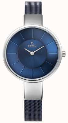 Obaku Womens sol watch bleu maille V149LXCLML