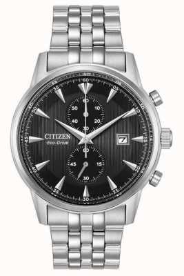 Citizen Bracelet chronographe en acier argenté pour homme CA7000-55E