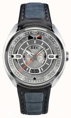 REC Porsche automatique gris alcantara cuir bracelet gris cadran p-901-01