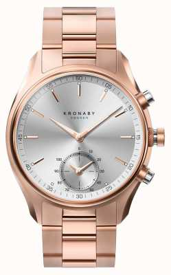 Kronaby Bracelet en métal doré rose avec bluetooth 43mm a1000-2745 S2745/1