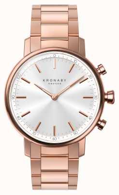 Kronaby Bracelet en or rose avec bluetooth de 38 mm carats argent a1000-2446 S2446/1