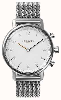 Kronaby 38mm nord bluetooth acier bracelet en maille smartwatch A1000-0793