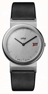Braun classique 1989 hommage design noir bracelet en cuir gris AW50