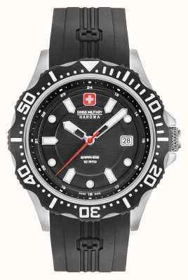 Swiss Military Hanowa Patrol noir cadran noir bracelet en argent 06-4306.04.007SM