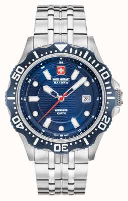 Swiss Military Hanowa Bracelet en argent avec cadran bleu foncé 06-5306.04.003SM