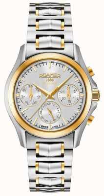 Roamer Searock Mesdames chrono bracelet en argent et or 203901471520
