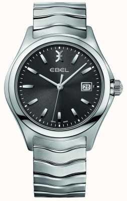 EBEL Mens wave bracelet en acier inoxydable gris cadran 1216239
