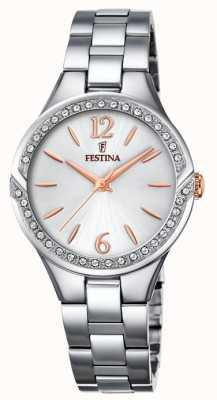 Festina Womens bracelet en acier inoxydable cadran argenté F20246/1