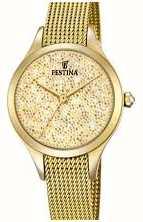 Festina Womens mademoiselle or pvd maille swarovski cadran F20337/2