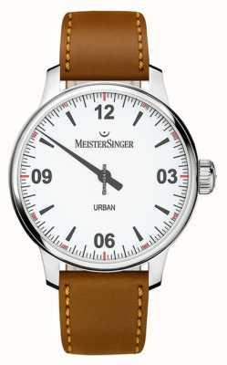 MeisterSinger Cadran blanc urbain argent opalin UR901