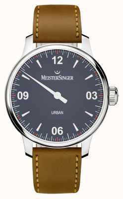 MeisterSinger Bracelet en cuir marron bleu urbain UR908