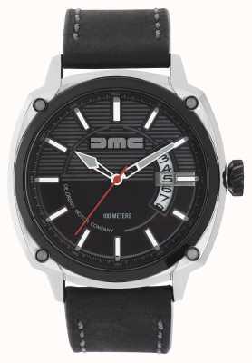 DeLorean Motor Company Watches Bracelet en cuir noir Alpha dmc cadran noir DMC-1