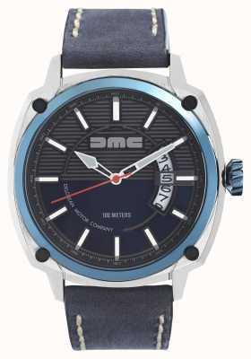 DeLorean Motor Company Watches Alpha dmc bleu mens bracelet en cuir bleu cadran bleu DMC-2