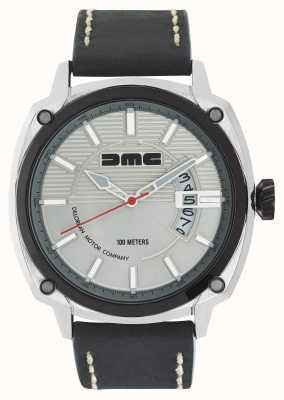 DeLorean Motor Company Watches Alpha dmc argent argent cadran noir bracelet en cuir DMC-3