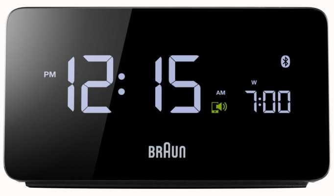 Braun Réveil numérique bluetooth BNC020BK