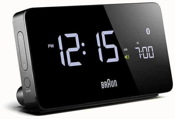 Braun Réveil numérique bluetooth noir BNC020BK