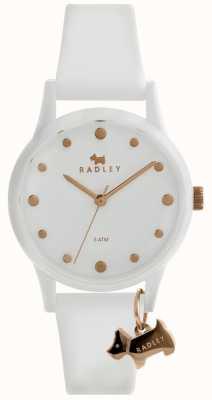 Radley Mesdames blanc 33mm cadran blanc bracelet en silicone blanc RY2638