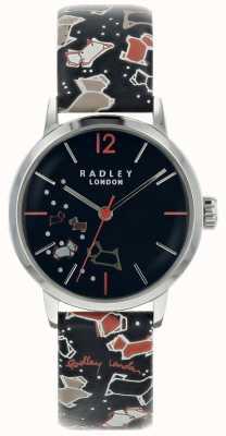 Radley Mesdames argent 31mm boîtier d'encre cadran encre bracelet en cuir RY2623