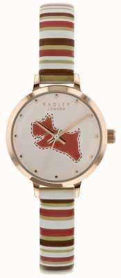 Radley Ladies 24mm cadran craie / bracelet en cuir de corail beige RY2628