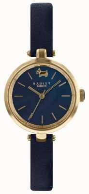 Radley Mesdames 28mm boîtier bleu marine bracelet en cuir d'encre RY2656