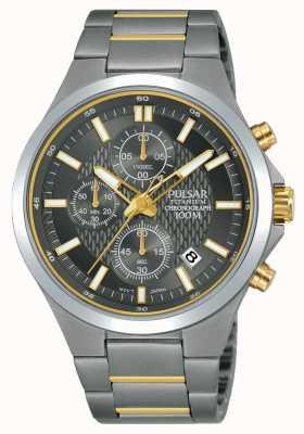 Pulsar Bracelet titane chronographe deux tons PM3113X1