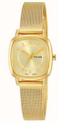 Pulsar Womens or en acier inoxydable bracelet en maille 30m de résistance PH8380X1