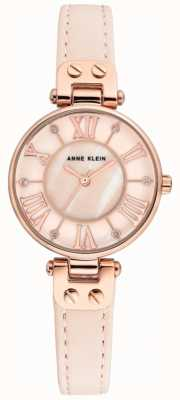 Anne Klein Womens jane montre bracelet en or rose bracelet en cuir AK/N2718RGPK