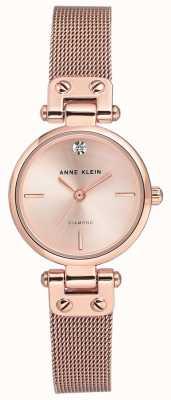 Anne Klein Womens isabel bracelet en maille or rose et cadran AK/N3002RGRG