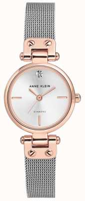 Anne Klein Womens isabel argent bracelet en maille et cadran AK/N3003SVRT