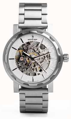 Weird Ape Kolt blanc et argent cadran argent bracelet en acier inoxydable WA02-005536