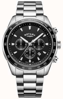 Rotary Bracelet pour homme henley chronographe en acier inoxydable GB05109/04