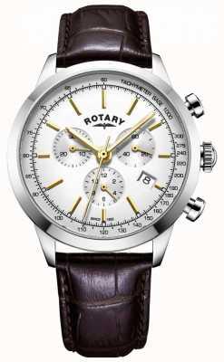 Rotary Montre chronographe en cuir cambridge pour homme GS05253/02