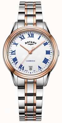 Rotary Bracelet cambridge deux tons en or rose pour femme LB05260/01