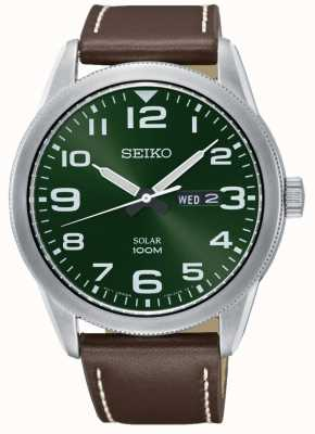 Seiko Montre homme brun bracelet vert SNE473P1