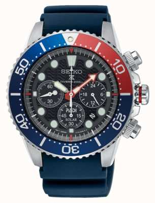 Seiko Homme prospex mer solaire chronographe montre bracelet bleu SSC663P1
