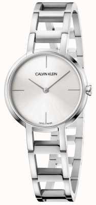 Calvin Klein Mesdames acclamations montre en acier inoxydable argent K8N23146