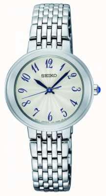 Seiko Mesdames argent quartz bracelet visage blanc SRZ505P1