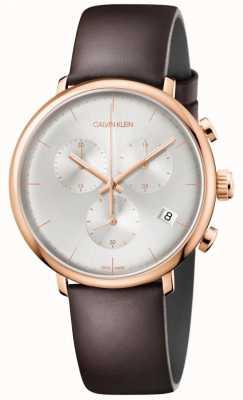 Calvin Klein Mens haute midi rose or date chronographe d'affichage de cas K8M276G6
