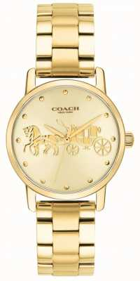 Coach Womens grand or boîtier et bracelet montre 14502976