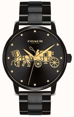 Coach Womens grand boîtier noir et bracelet 14502925