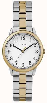 Timex Montre en acier inoxydable 30mm pour femme, facile à lire TW2R58800