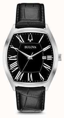 Bulova Hommes ambassador classique en cuir 96B290