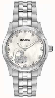 Bulova Femmes coeur classique en acier inoxydable 96P182