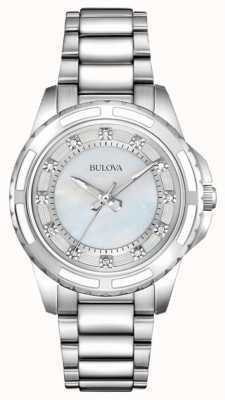 Bulova Womens designer diamant nacre 96S144